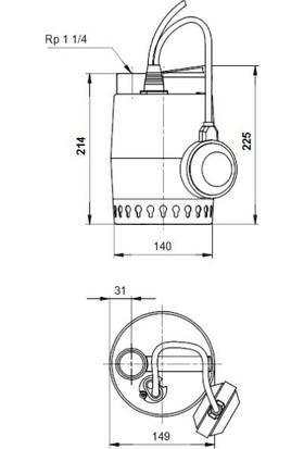 Grundfos Unılıft Kp250-A-1 1X220-230V 50Hz 10Msch