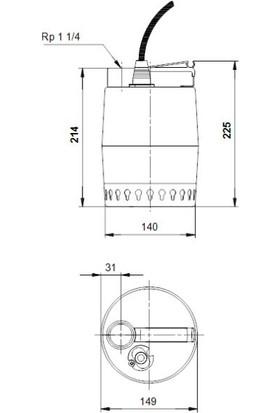 Grundfos Unılıft Kp250-M-3 3X380-415V 50Hz 10M