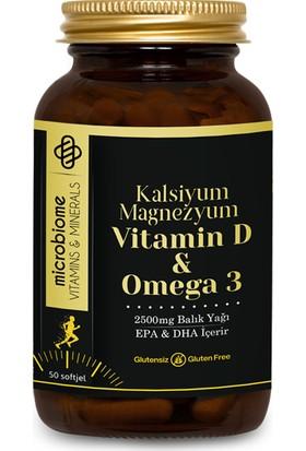 Microbiome Omega 3 Vitamin D Kalsiyum Magnezyum 50 Softjel