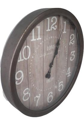 Arın Home Metal Çerçeve Dekoratif Duvar Saati