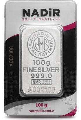 Nadir Fine Silver 999 Ayar Külçe Gümüş 100 Gram