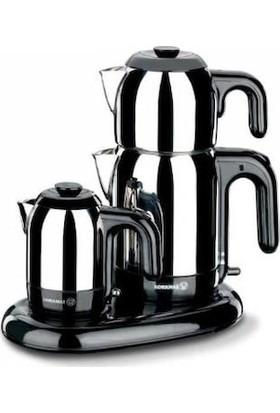 Korkmaz A367 Çaykahve Makinesi İnox / Siyah