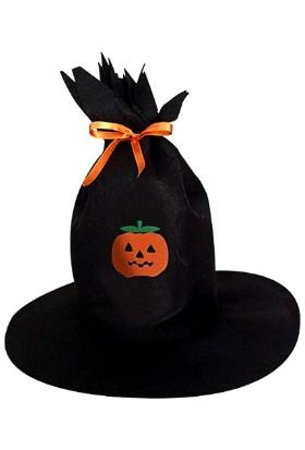 Kostümce Balkabağı Figürlü Cadı Şapkası Çocuk