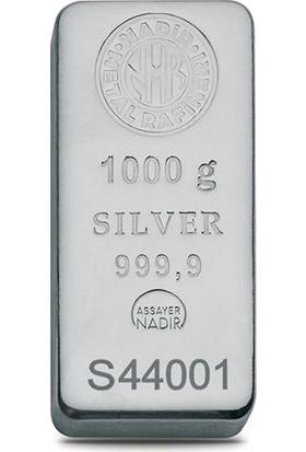 Nadir Fine Silver 999 Ayar Külçe Gümüş 1000 Gram
