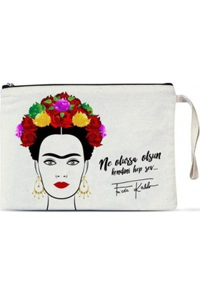 Manana Atelier Clutch Çanta - Frida Kahlo (Renkli) 1 adet
