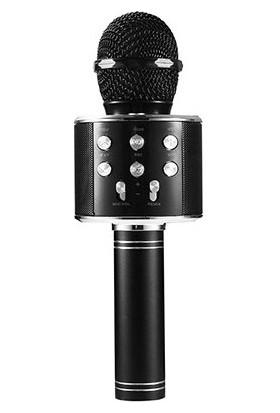 Asonic AS-M09 Bt-Aux-Usb-Tf Card Destekli Karaoke Mikrofon - Siyah