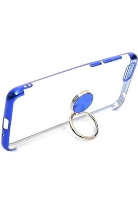 Kny Samsung Galaxy M31 Kılıf 4 Köşe Renkli Yüzüklü Gess Silikon + Cam Ekran Koruyucu Rose Gold
