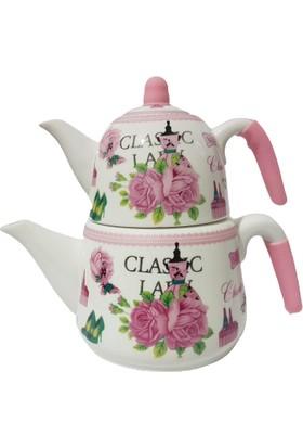 Lale Miss Classic Porselen Çaydanlık