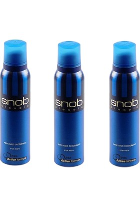 Snob Classic Deodorant 150 ml 3 Adet