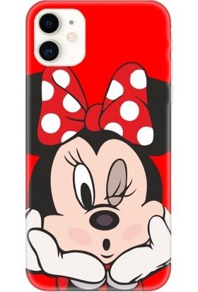 Casethrone Apple iPhone 11 Kırmızı İçi Kadife Silikon Telefon Kılıfı Kr11 Minimous
