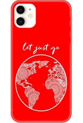 Casethrone Apple iPhone 11 Kırmızı İçi Kadife Silikon Telefon Kılıfı Kr33 Letjust