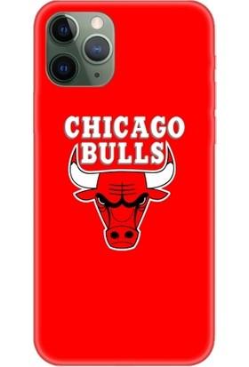Casethrone Apple iPhone 11 Pro Kırmızı İçi Kadife Silikon Telefon Kılıfı Kr04 Bulls