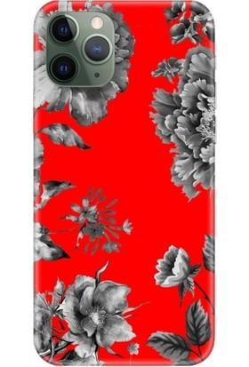 Casethrone Apple iPhone 11 Pro Kırmızı İçi Kadife Silikon Telefon Kılıfı Kr32 Gricicek