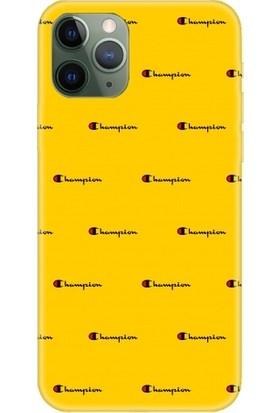 Casethrone Apple iPhone 11 Pro Max Sarı İçi Kadife Silikon Telefon Kılıfı Sr18 Kucuk Championdes