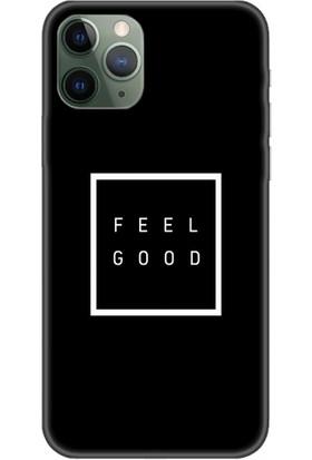 Casethrone Apple iPhone 11 Pro Max Siyah İçi Kadife Silikon Telefon Kılıfı Sb42 Feelgood