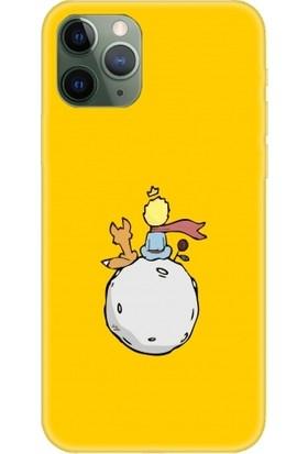 Casethrone Apple iPhone 11 Pro Sarı İçi Kadife Silikon Telefon Kılıfı Sr30 Kucuk Prens