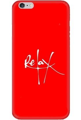 Casethrone Apple iPhone 6 / 6S Kırmızı İçi Kadife Silikon Telefon Kılıfı Kr01 Relax