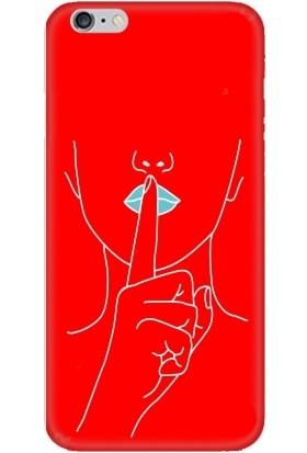 Casethrone Apple iPhone 6 / 6S Kırmızı İçi Kadife Silikon Telefon Kılıfı Kr27 Sus