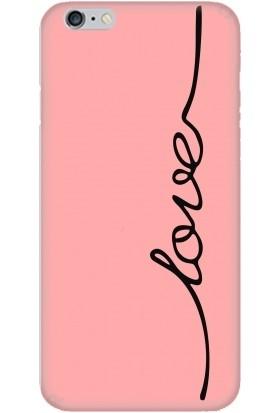 Casethrone Apple iPhone 6 / 6S Pembe İçi Kadife Silikon Telefon Kılıfı Pmb12 Love