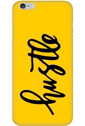 Casethrone Apple iPhone 6 / 6S Sarı İçi Kadife Silikon Telefon Kılıfı Sr48 Bustle