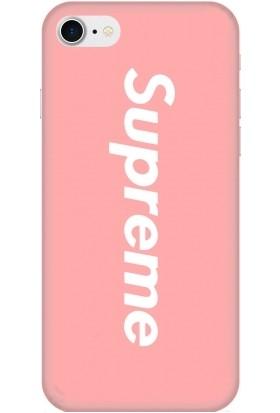 Casethrone Apple iPhone 7 Pembe İçi Kadife Silikon Telefon Kılıfı Pmb40 Supreme