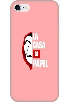 Casethrone Apple iPhone 7 Pembe İçi Kadife Silikon Telefon Kılıfı Pmb47 Lacasa_