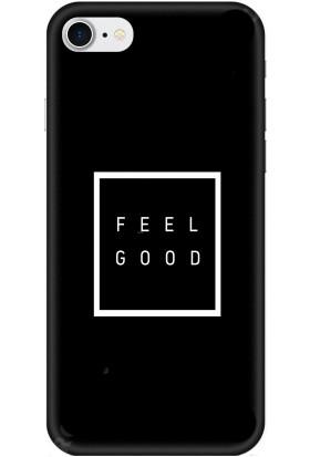 Casethrone Apple iPhone 7 Siyah İçi Kadife Silikon Telefon Kılıfı Sb42 Feelgood