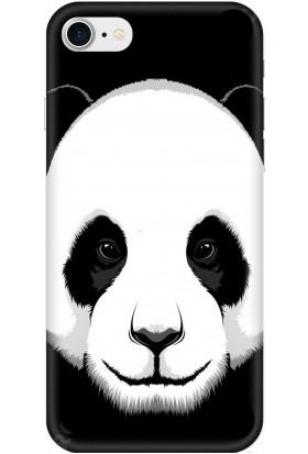 Casethrone Apple iPhone 7 Siyah İçi Kadife Silikon Telefon Kılıfı Sb43 Panda