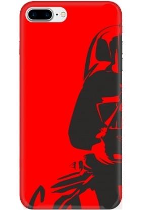 Casethrone Apple iPhone 7 Plus Kırmızı İçi Kadife Silikon Telefon Kılıfı Kr34 Robot
