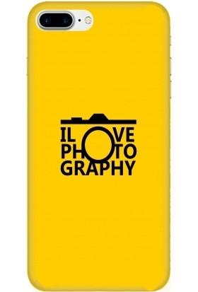 Casethrone Apple iPhone 7 Plus Sarı İçi Kadife Silikon Telefon Kılıfı Sr01 Photo