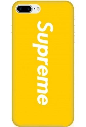 Casethrone Apple iPhone 7 Plus Sarı İçi Kadife Silikon Telefon Kılıfı Sr16 Supreme
