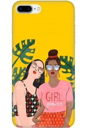 Casethrone Apple iPhone 7 Plus Sarı İçi Kadife Silikon Telefon Kılıfı Sr25 Girlpower Resmi