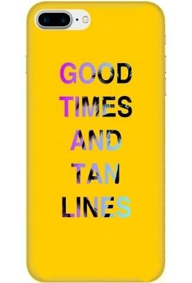 Casethrone Apple iPhone 7 Plus Sarı İçi Kadife Silikon Telefon Kılıfı Sr45 Good Times