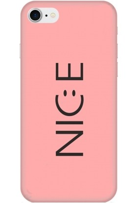 Casethrone Apple iPhone 8 / Se 2020 Pembe İçi Kadife Silikon Telefon Kılıfı Pmb34 Nice