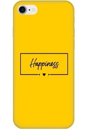 Casethrone Apple iPhone 8 / Se 2020 Sarı İçi Kadife Silikon Telefon Kılıfı Sr41 Happiness