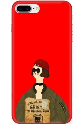 Casethrone Apple iPhone 8 Plus Kırmızı İçi Kadife Silikon Telefon Kılıfı Kr54 Mathilda