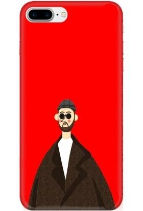 Casethrone Apple iPhone 8 Plus Kırmızı İçi Kadife Silikon Telefon Kılıfı Kr55 Leon
