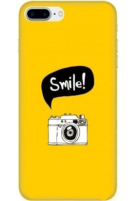 Casethrone Apple iPhone 8 Plus Sarı İçi Kadife Silikon Telefon Kılıfı Sr20 Foto Makina