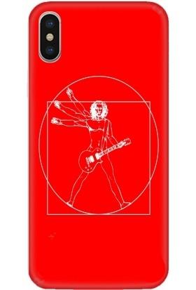 Casethrone Apple iPhone X / XS Kırmızı İçi Kadife Silikon Telefon Kılıfı Kr18 Efsanesanatci