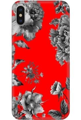 Casethrone Apple iPhone X / XS Kırmızı İçi Kadife Silikon Telefon Kılıfı Kr32 Gricicek