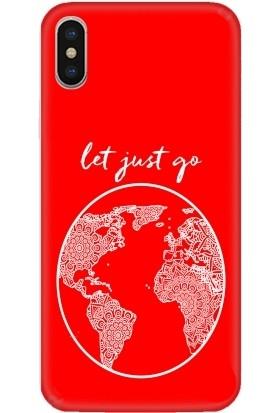 Casethrone Apple iPhone X / XS Kırmızı İçi Kadife Silikon Telefon Kılıfı Kr33 Letjust