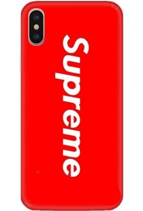 Casethrone Apple iPhone X / XS Kırmızı İçi Kadife Silikon Telefon Kılıfı Kr39 Supreme