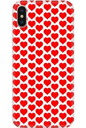 Casethrone Apple iPhone X / XS Kırmızı İçi Kadife Silikon Telefon Kılıfı Kr50 Coklualp