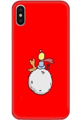 Casethrone Apple iPhone X / XS Kırmızı İçi Kadife Silikon Telefon Kılıfı Kr64 Kucukprens