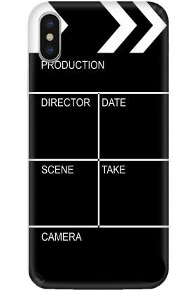 Casethrone Apple iPhone X / XS Siyah İçi Kadife Silikon Telefon Kılıfı Sb17 Cekim