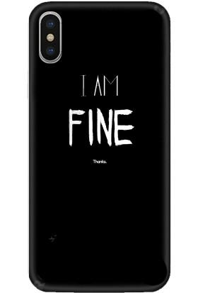 Casethrone Apple iPhone X / XS Siyah İçi Kadife Silikon Telefon Kılıfı Sb31 Fine