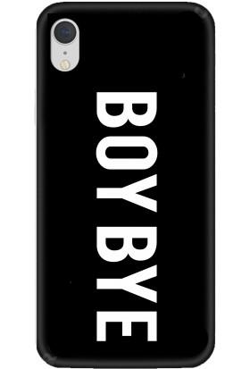 Casethrone Apple iPhone XR Siyah İçi Kadife Silikon Telefon Kılıfı Sb01 Boybye