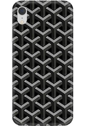 Casethrone Apple iPhone XR Siyah İçi Kadife Silikon Telefon Kılıfı Sb61 Bloklar