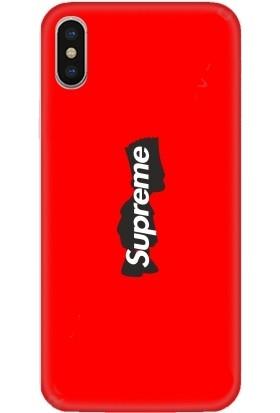 Casethrone Apple iPhone XS Max Kırmızı İçi Kadife Silikon Telefon Kılıfı Kr10 Ufaksupreme