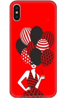 Casethrone Apple iPhone XS Max Kırmızı İçi Kadife Silikon Telefon Kılıfı Kr14 Balonlukadın